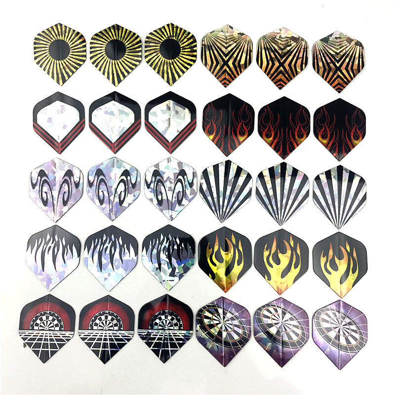 Hot Sale Reflective 6/8/9/12/30 PCS PVC Laser Dart Wing  Darts Flights High Quality Durable Nice Dart Flights Set