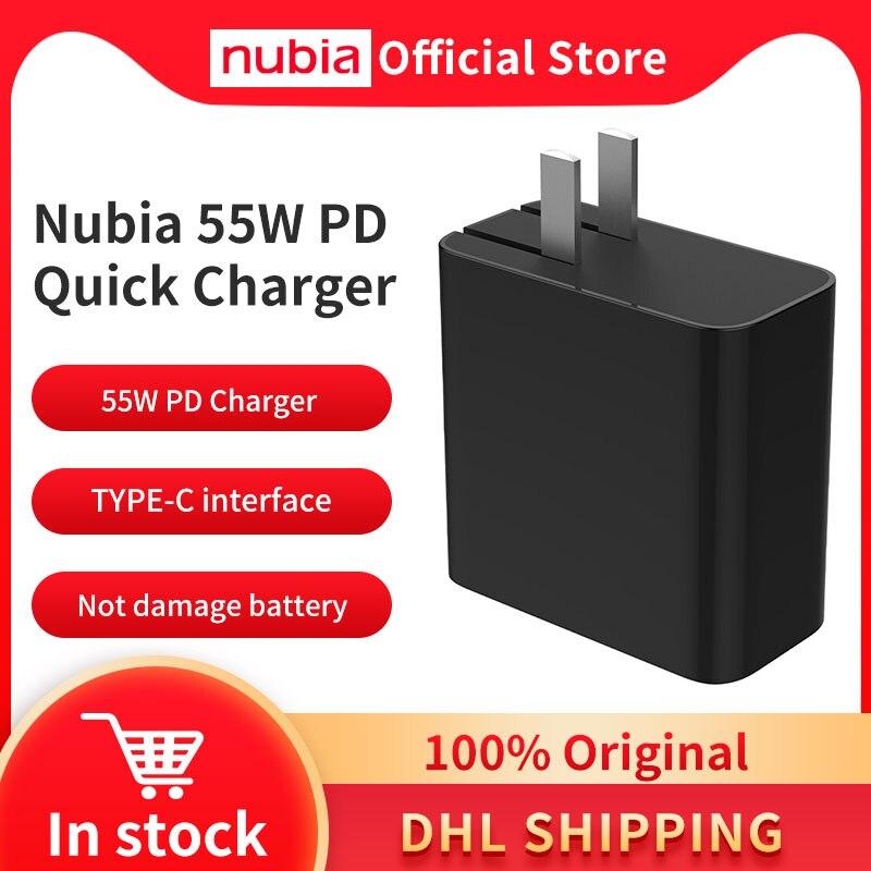 Оригинальный nubia рамка Redmagic 5S 55 Вт PD быстрое зарядное устройство Зарядное устройство адаптер для nubia рамка RedMagic 5G телефон Максимальная выход...