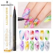 BORN PRETTY 1Mlสีเล็บจิตรกรรมปากกาบานInkภาษาโปลิชคำออกแบบเล็บBeauty Nail Art Design
