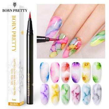 BORN PRETTY 1ml Water Color Nail Painting Pen Blossoming Ink Polish Nail Art Design Beauty Nail Art Design