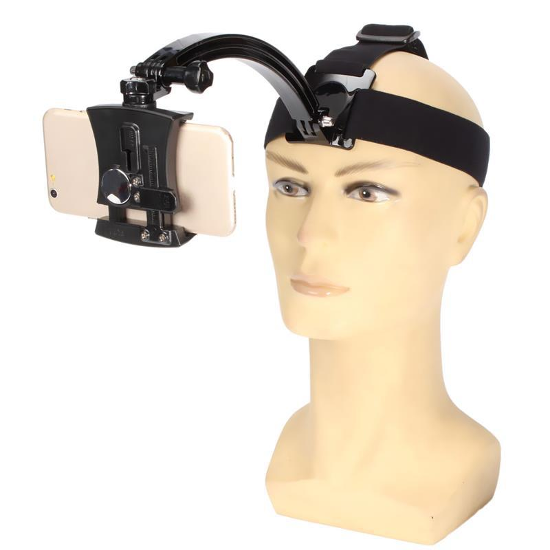 Outdoor Adjustable Head Band Phone Holder Camera Photo At Harness Strap Belt Mount Tripod Clip Holder Fast Hand Live Video