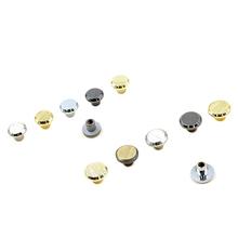 100 sztuk 8mm 9 5mm przyciski Screwback okrągła głowica kulowa Post szpilki nity do paznokci skórzane akcesoria do sprzętu rzemieślniczego tanie tanio Rongxiao Metal PS964