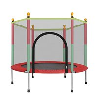 Large 140cm Indoor Trampoline with Protection Net Adult Children Jumping Bed Outdoor Trampolines Exercise Bed Fitness Equipment