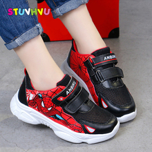 Autumn Boys Sneakers Children's Breathable Sports Shoes Spider-man Student Boys Shoes 2019 New Fashion Mesh Kids Running Shoes