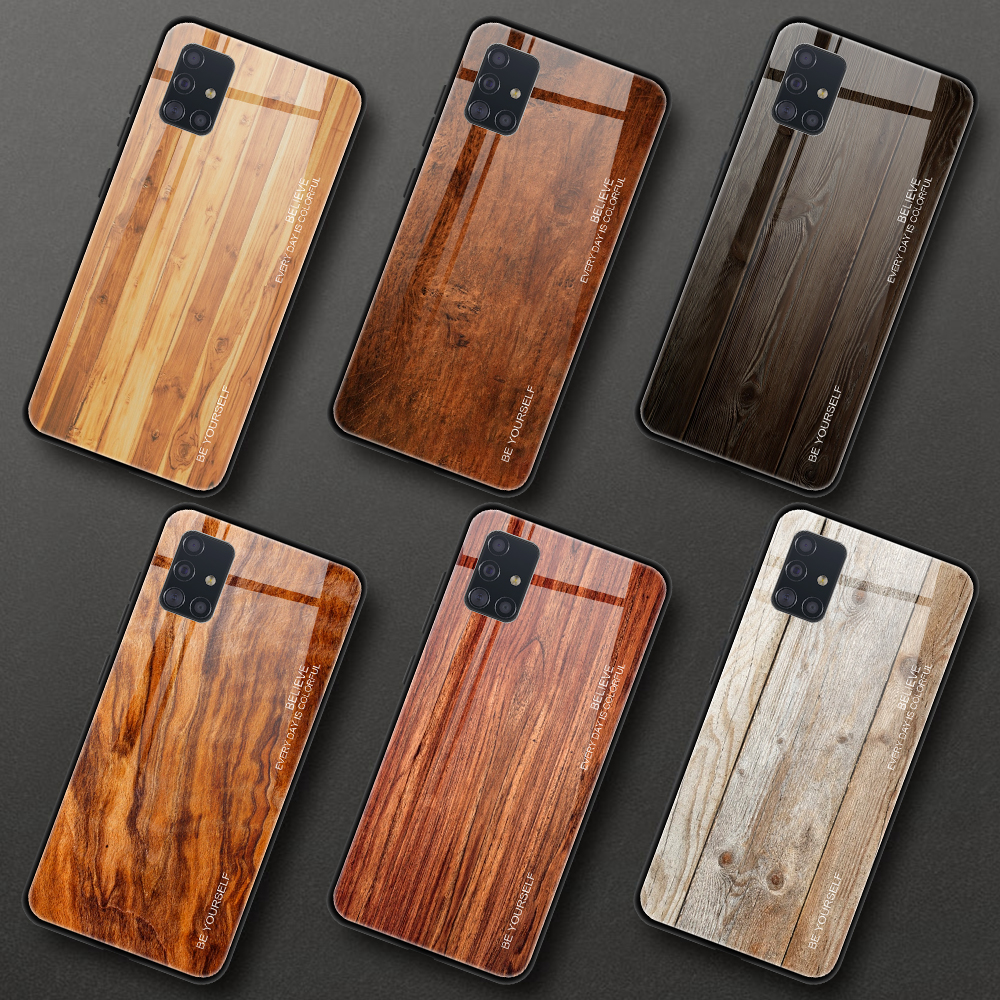 Ultra Thin Shockproof Hard Phone Case For Samsung Galaxy A51 A71 A 51 71 Tempered Glass Case Coque For Samsung A51 A515F Cover