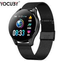 Reloj Inteligente YOCUBY pulsera de Fitness de salud con podómetro de medición de presión relojes de frecuencia cardíaca Reloj Inteligente Q9