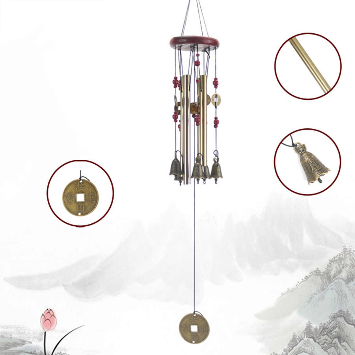 Wind Chimes Bells Copper Tubes Outdoor Yard Garden Home Decor Ornament Gift