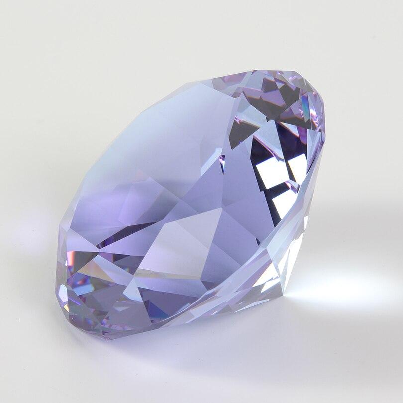 Цветные вечерние украшения из большого стекла с бриллиантами, большие бриллианты, романтическое предложение, украшения для дома, вечерние рождественские подарки - Цвет: Purple