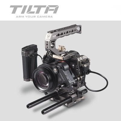 Tilta TA T17 A G Rig Cage For Sony A7II A7III A7S A7S II A7R II A7R IV A9 Rig Cage For SONY A7/A9 series Tiltaing VS Smallring-in Photo Studio Accessories from Consumer Electronics