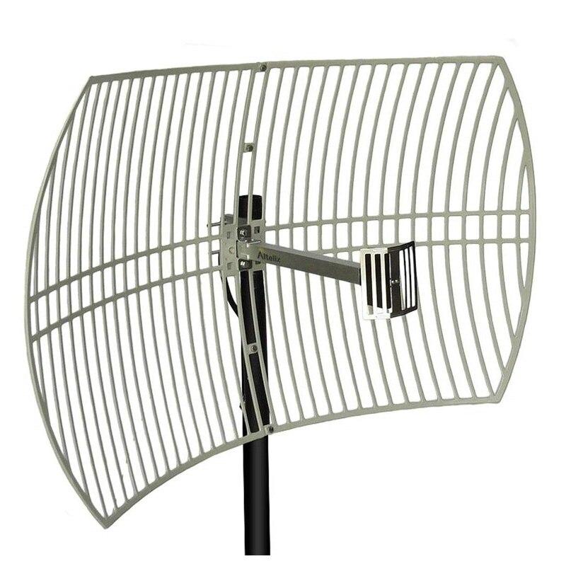 Внешняя антенна с усилением 24 дБи для бустер сигнала, ретранслятор работает для 3G WCDMA 2100 МГц 4G LTE/DCS 1800 МГц внешняя антенна сетки