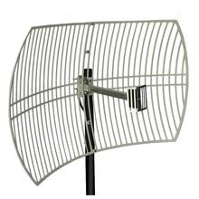 24 antena exterior do ganho de dbi para o trabalho do repetidor do impulsionador do sinal para 3g wcdma 2100 mhz 4g lte/dcs 1800 mhz antena externa da grade