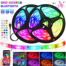 Bluetooth USB LED Strip Light 5050 SMD RGB LED Lights Flexible Waterproof LED Lamp Tape Ribbon RGB TV Desktop Diode Tape