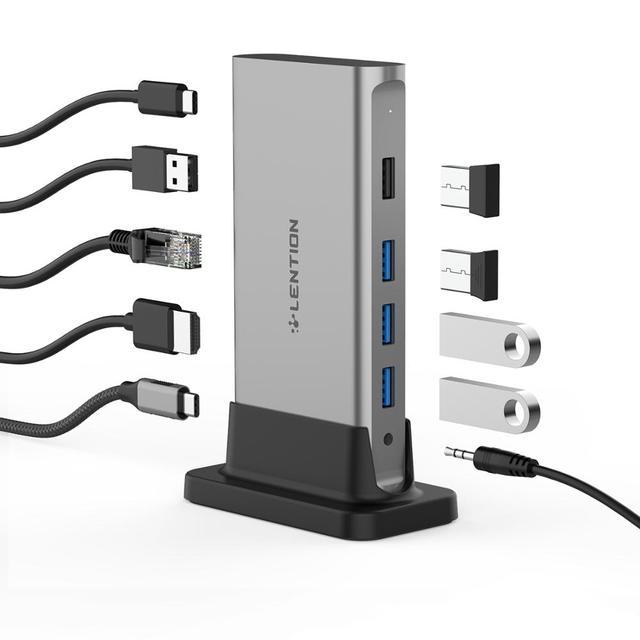 11 W 1 USB C HUB typ C na Multi HDMI RJ45 VGA USB 3.0 2.0 z zasilaniem (100W )Adapter stacja dokująca dla MacBook Pro USB-C Hub