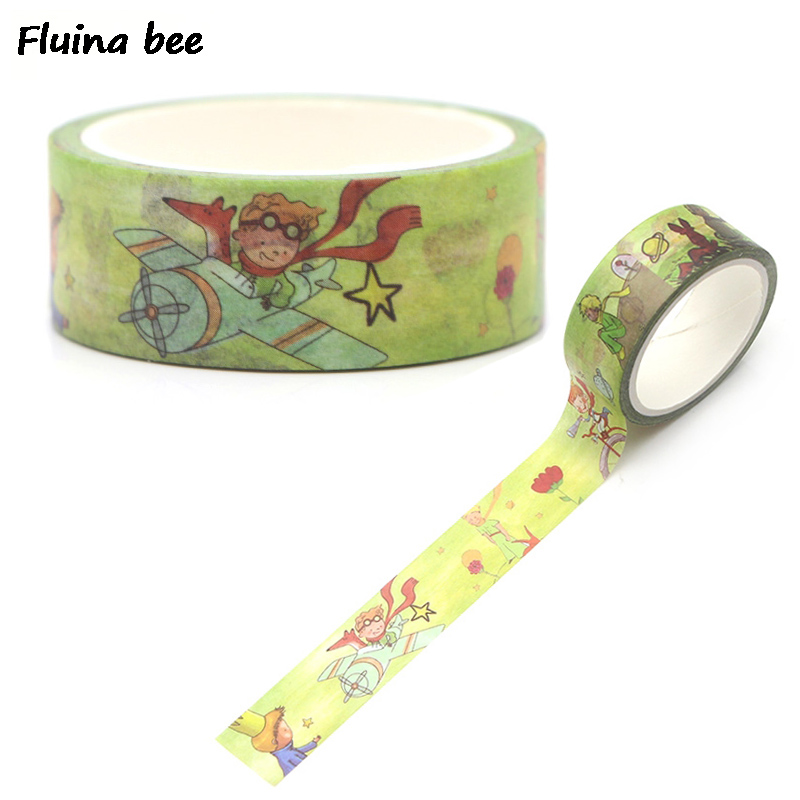 Flyingbee 15mmX5m  Prince Washi Tape Paper DIY Decorative Adhesive Tape Stationery Funny Masking Tapes Supplies X0270