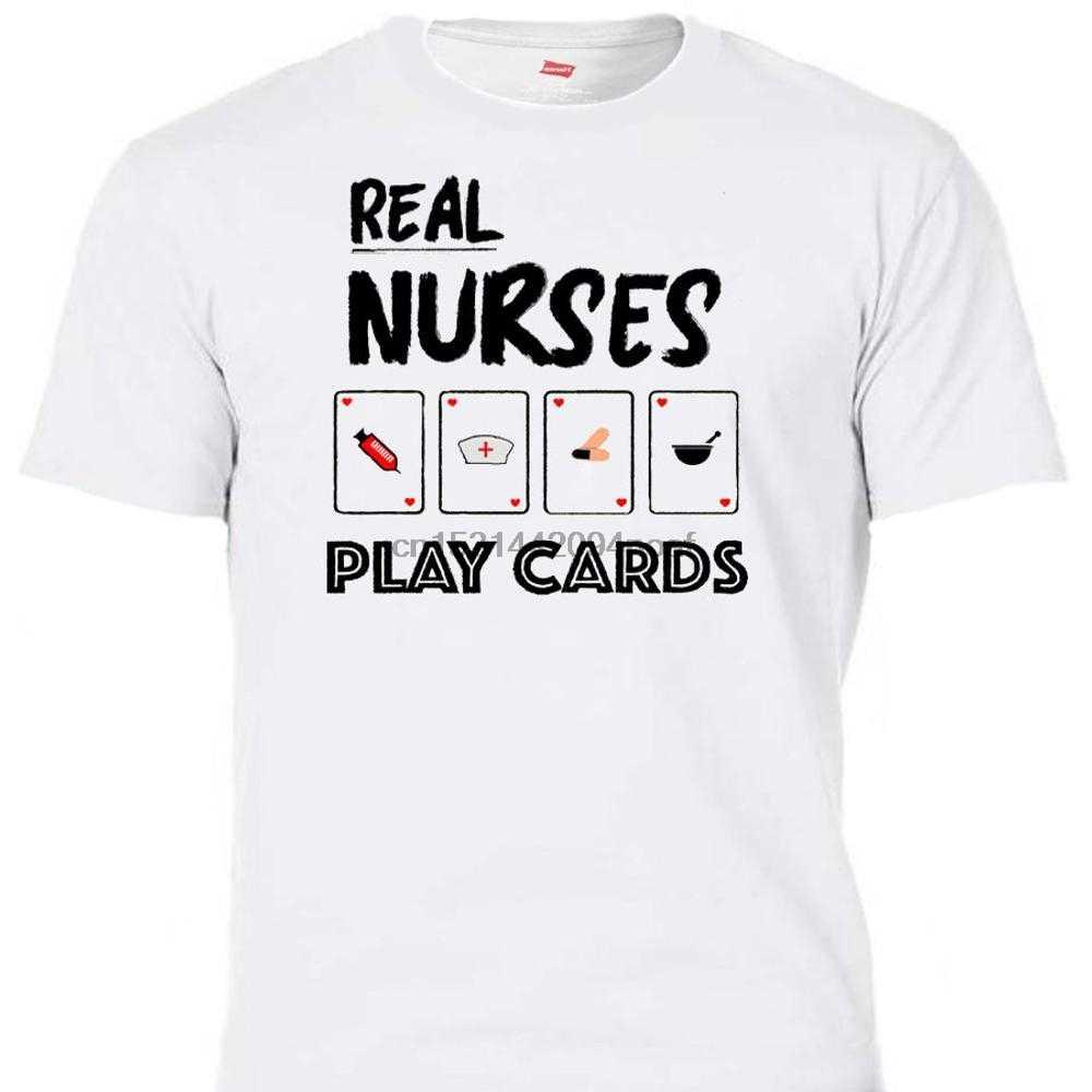Настоящие медсестры играют карты Rn Lpn крутая футболка и Бейсбол Все размеры T 1393