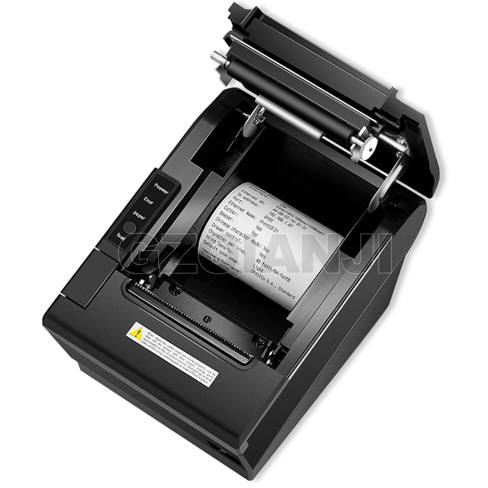 Image 5 - Pos Bill printer 80mm thermal receipt Small ticket barcode printerT Auto Cutting Restaurant Kitchen Printer USB Lan Serial Port-in Printers from Computer & Office