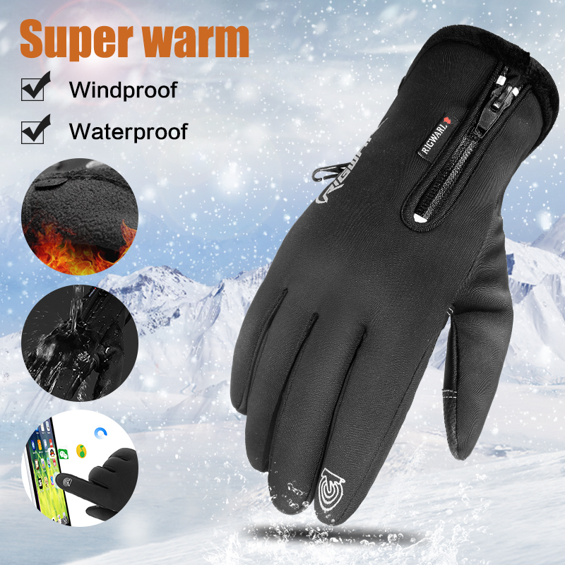 -30 Degree Touch Screen Winter Gloves Warm Windproof Gloves Waterproof Sports Gloves Ski Riding Gloves Bikes Motorcycle Gloves