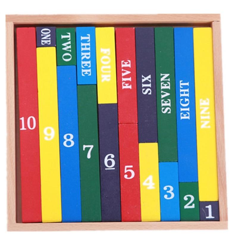Educational Wooden Digital Building Block Toys Children Baby Toys 1-10 Math Arithmetic Teaching Aids Kids Blocks Toy