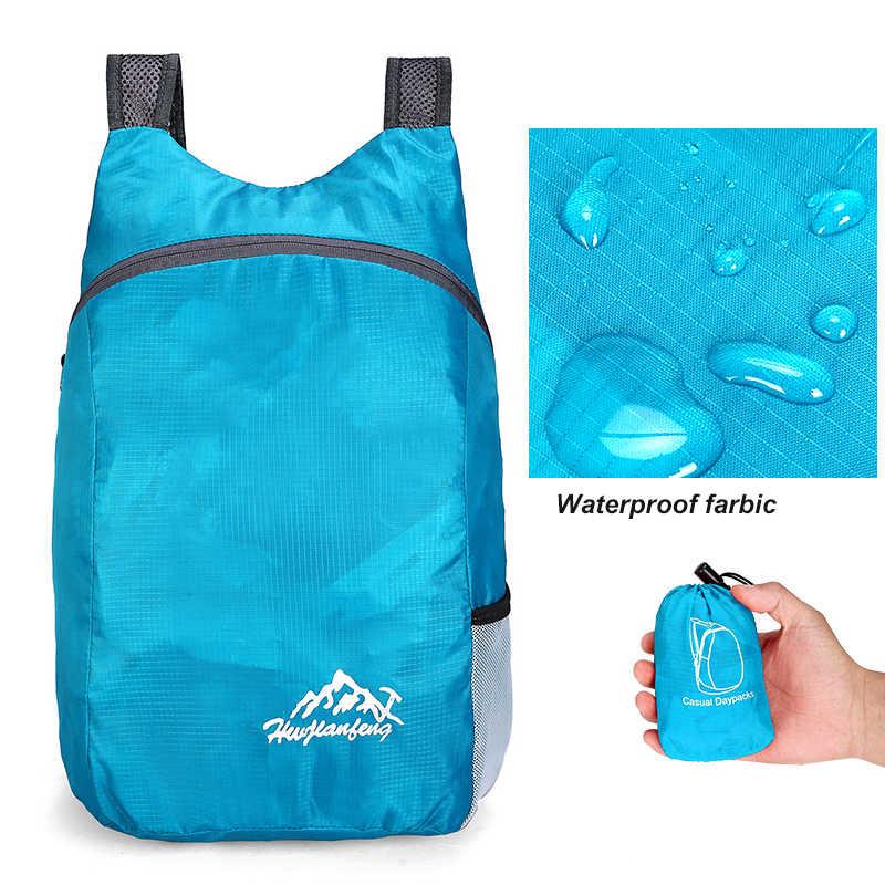 20L Wasserdichte Reise Rucksack Faltbare Rucksack Für Männer Frauen Leichte Wandern Camping Lauf Rucksack