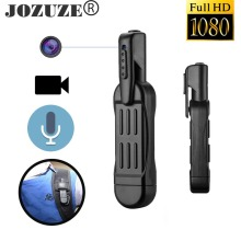цена на JOZUZE Mini Camera T189 Pen Full HD 1080P Secret Camera Wearable Body Pen Camera Digital Mini DVR Small DV Camcorder Support