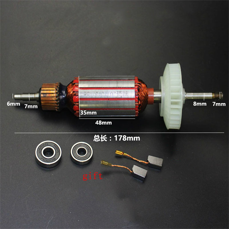 AC220-230V Armature Rotor Stator Gear Replace For Dewalt DW803 DW810 DW811 6288 Angle Grinder Rotor Power Tool Spare Parts