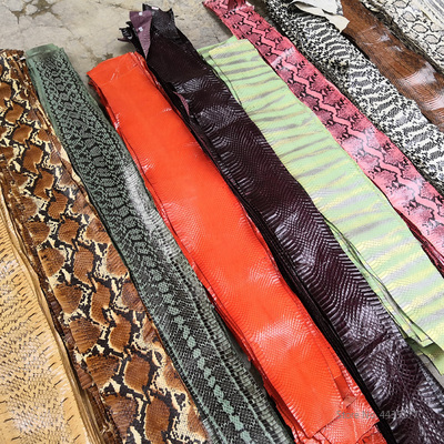 DIY 20 colors Natural Snakeskin Leather Fabric with handicraft Leather tools Rare Skin 80cm-140cm