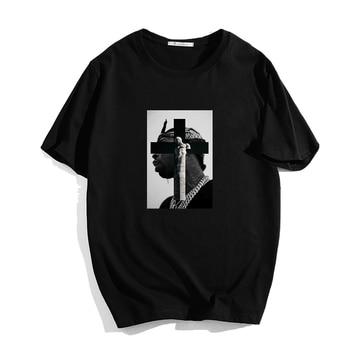 Summer Short-sleeve Cotton T Shirt Pop Smoke Hip Hop Graphic Tees Women Ulzzang Tee Shirt Men Female Fashion Tee Tops Plus Size plus raglan sleeve graphic tee