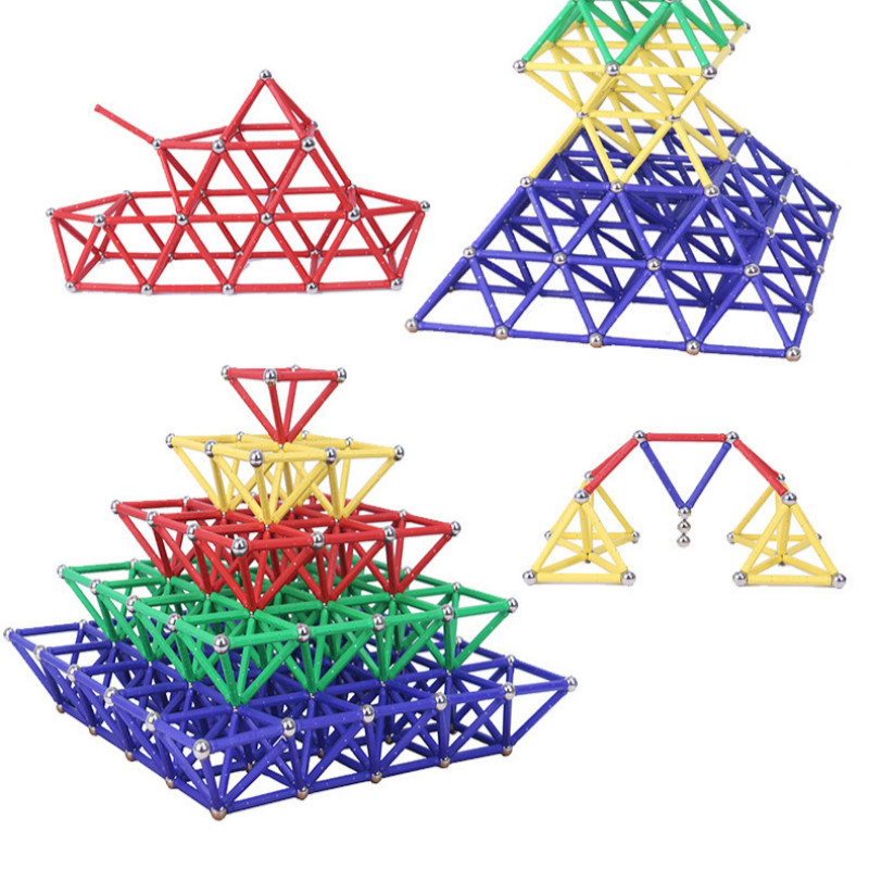 Quality inspection 58mm Magnetic Sticks Building Blocks Set Kids Educational Toys For Children Magnetic Toy Bricks