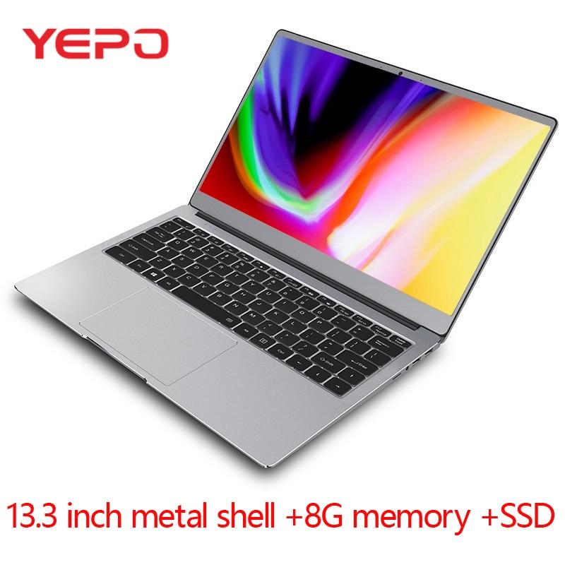 Laptop 13.3-inch Metal Case N4100 Quad-core 8G RAM 512GB 256GB 128GB SSD IPS Screen Win10 Ultrabook