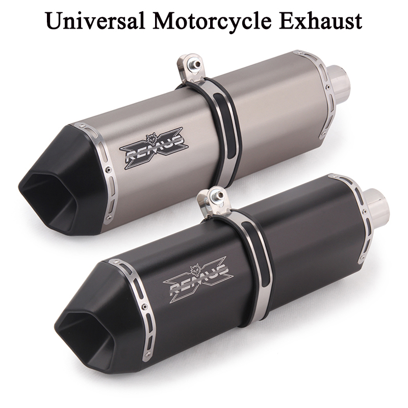 51MM Universal Motorcycle GP <font><b>Exhaust</b></font> Pipe Escape REMUS Modified <font><b>Exhaust</b></font> Muffler For CRF 230 MT 09 FZ8 VERSY650 <font><b>R3</b></font> R6 DUKE ATV image