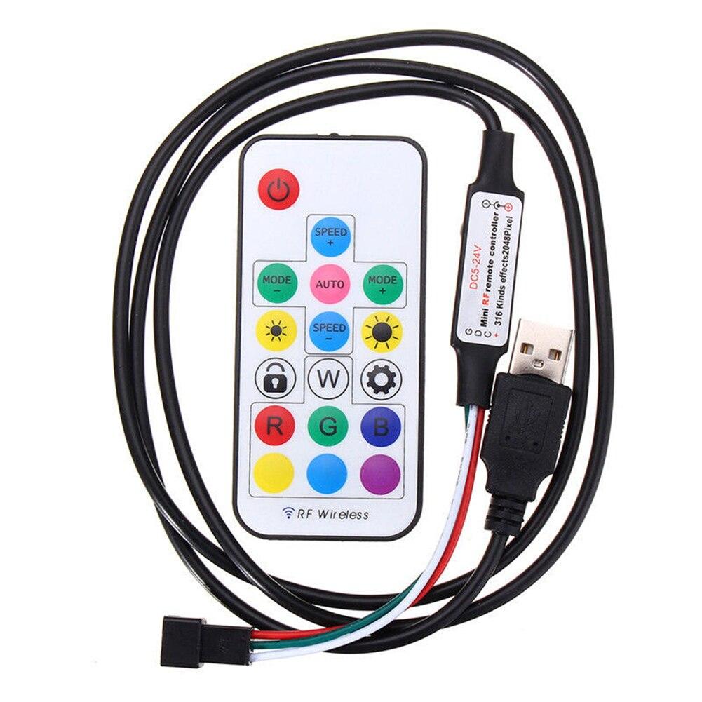 Светодиодный светильник с 17 клавишами, электрический пульт дистанционного управления, замена радиочастотного беспроводного затемнения
