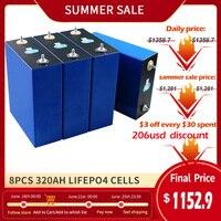 PWOD nuovo 4-48 pz 3.2v 320ah Lifepo4 batteria ricaricabile litio ferro fosfato solare 310ah cella Lifepo4 cella ue usa esente da tasse