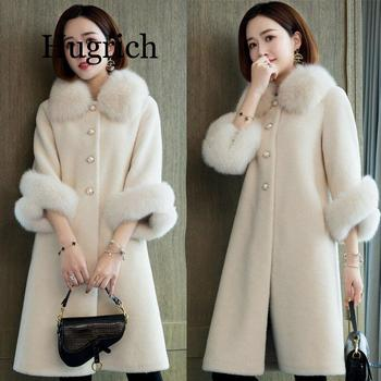 2020 Faux Fur Coat Women Casual Furry Thick Warm Long Faux Mink Fur Lamb Fur Jacket Loose Winter Coat Women manteau femme hiver casual thick faux fur hooded long sleeve bodycon coat for women page 4