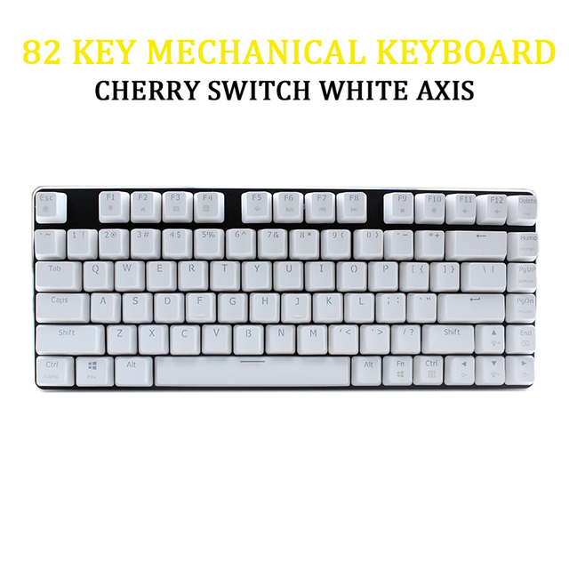 82 Key Mechanical Keyboard USB Wired Backlit Ergonomic Cherry Switch White Axis For Laptop Pc Gamer Two Color Injection Keycaps