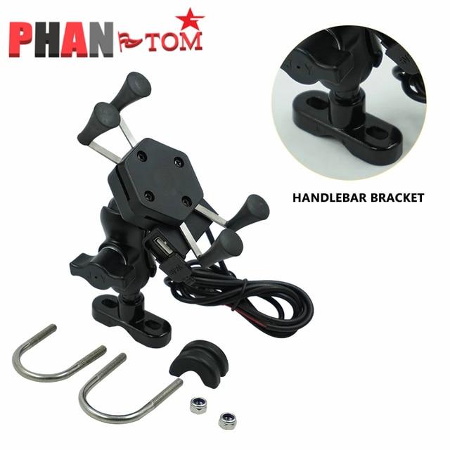 Support de téléphone USB pour moto KAWASAKI Z900, Z650, Z1000, Z800, Z750, Z300, Z250, Z125, W800, SE, support de téléphone