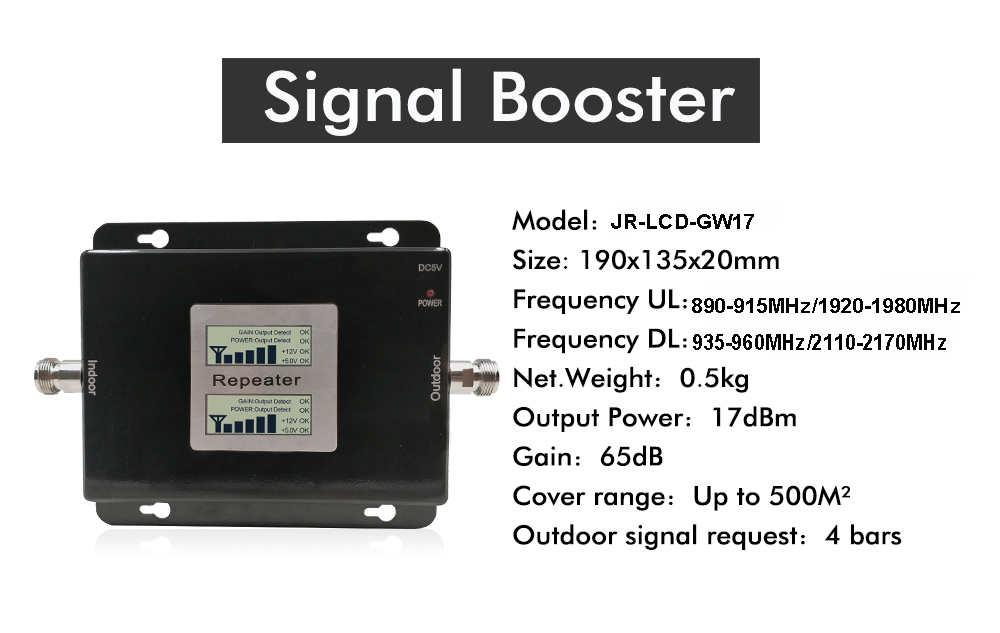 Russia 2G GSM repeater 900 3G 2100 Cell phone Signal amplifier Cellular Booster GSM WCDMA UMTS 2100 2G 3G 4G Signal Antenna (12)