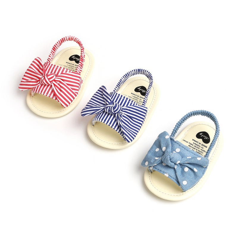 New Fashion Baby Girls Sandals Cute Bow Breathable Anti-Slip Summer Sandals Toddler Soft Soled First Walkers Shoes 0-18M