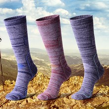 Men Women Skiing Socks Cushioned Breathable Long Hosiery Outdoor Climbing Hiking Sports Footwear Compression