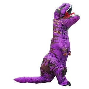 Image 5 - Costume de dinosaure gonflable pour adulte, Costumes de dinosaure T REX, Blow Up, déguisement Cosplay mascotte Dino de dessins animés, pour hommes, femmes et enfants