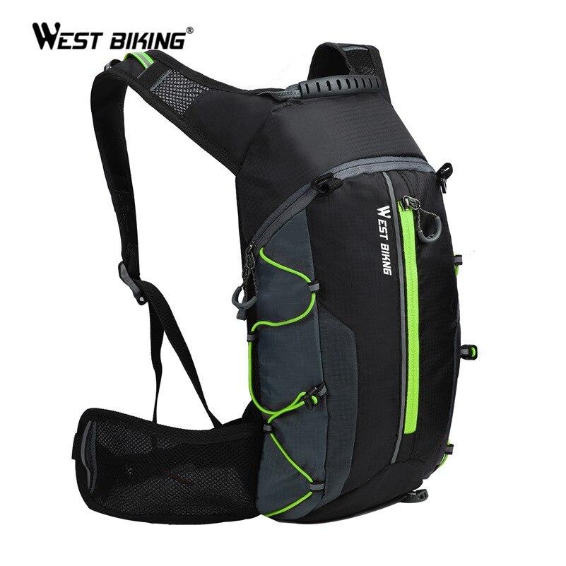 Ouest vélo ultraléger sac de vélo Portable étanche Sport sac à dos 10L en plein air randonnée escalade poche cyclisme vélo sac à dos