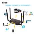 KuWFi CAT4 4G LTE CPE Auto WiFi 300Mbps Industrie Drahtlose Router Hohe Geschwindigkeit CPE Router mit SIM Karte slot/4 stücke Externe Antenne