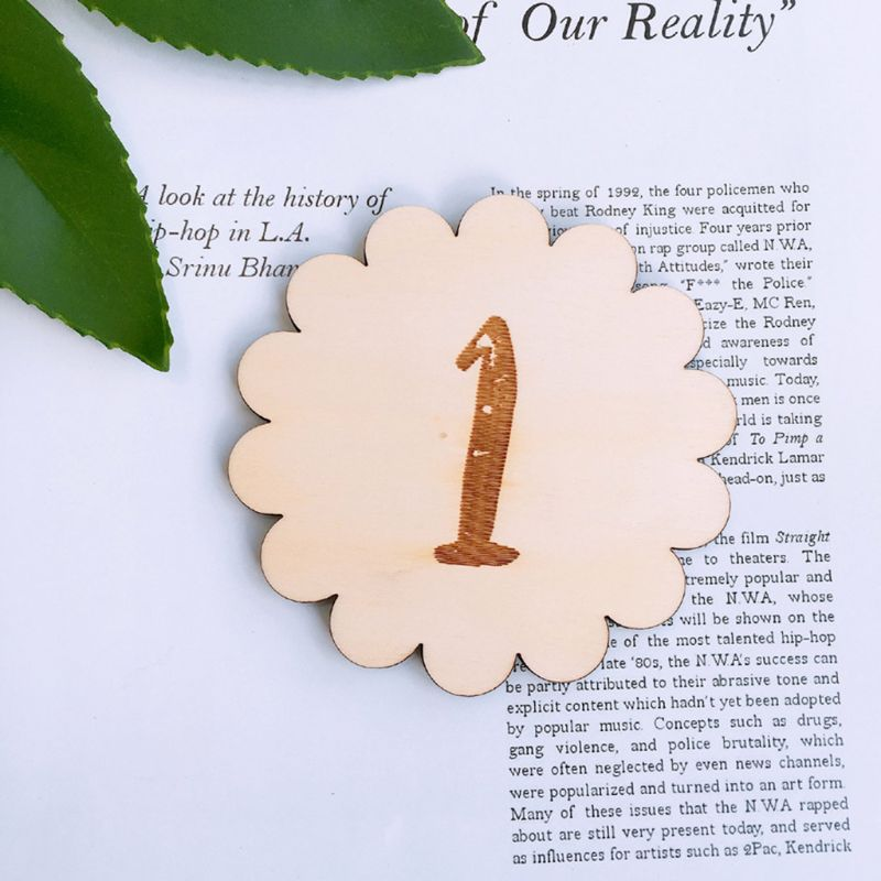 12 Pcs/set Wooden Baby Memorial Birthday Landmark Card Newborn Photography Props Photo Accessories Shoot Toys