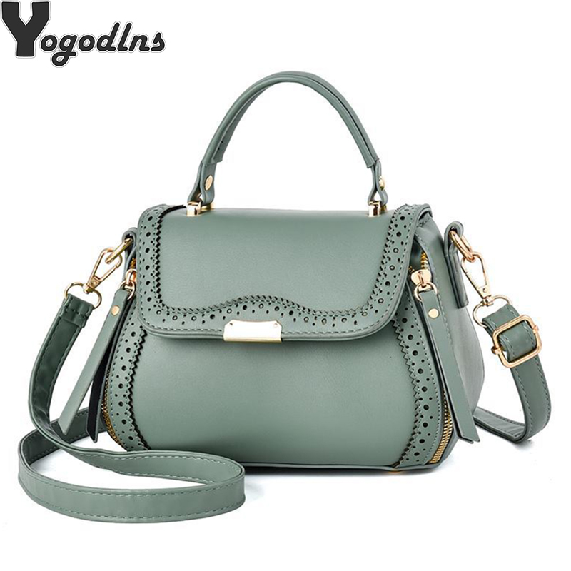 Hollow Out Shell Bag Femininas Women PU Leather Handbags Female Crossbody Shoulder Bag Fashion Designer Casual Ladies Purse