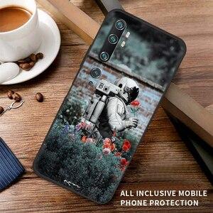 Image 5 - Kılıf Xiaomi Mi not 10 11 Ultra 11i 10T Pro Lite Poco X3 NFC F2 F3 M3 Anti sonbahar yumuşak telefonu kılıfı güzel uzay astronot