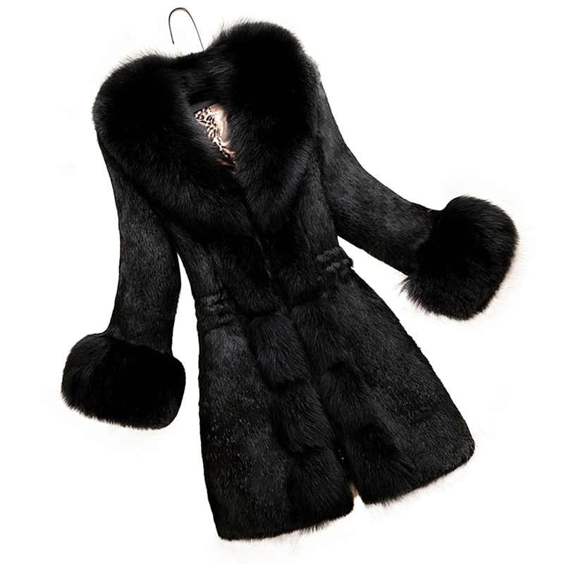 Nieuwe Plus Size Vrouwen Kleding S-6XL Winter Jas Kantoor Dame Faux Bontjas Elegante Vrouwelijke Uitloper Slim Teddy Jas Vrouwen warme Jas