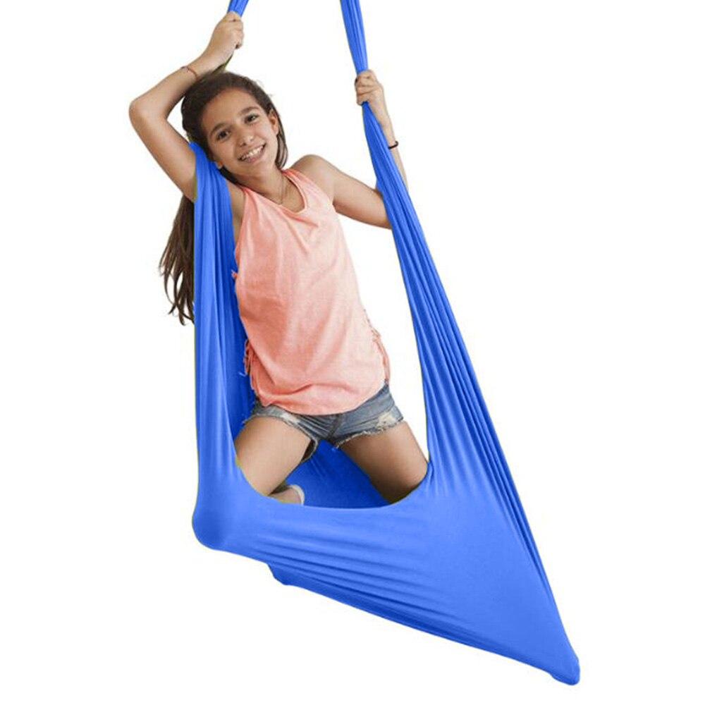 Swing hammock para pdd adhd adicionar terapia aconchegar até 150kg sensorial kids therapy pacote elástico constante pendurado balanço para interior