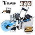 ZONESUN TB-YL50D Semi Automatische Label Applikator Medizin Runde Flasche Kennzeichnung Maschine Mit Datum Drucker Selbst Klebe Etikettierer