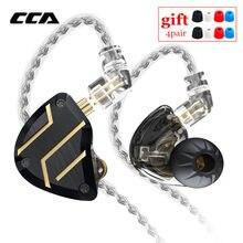 CCA C10 PRO 4BA 1DD Hybrid In Ear Earphones Metal HIFI Monitor Headsets Noise Cancelling Sports Running Earphones CA16\C12\ZSX