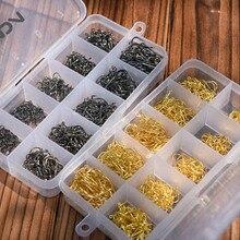 Рыболовные крючки Lixada 3#-12#10 размеров из углеродистой стали 500 шт./600 шт. рыболовные крючки с/без отверстия рыболовный крючок