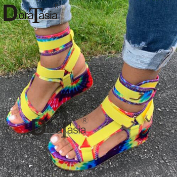 DORATASIA 2020 New Ladies Platform Gladiator Sandals INS Hot Colorful Wedges Summer Sandals Women Party Wholesale Shoes Woman